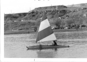 Jim sailing the Folbot kayak