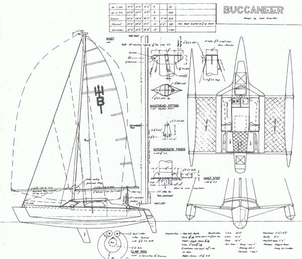 More on Lock Crowther's Buccaneer 24 Trimaran | Small Trimarans
