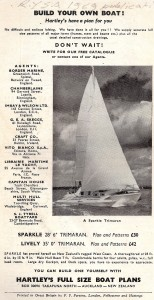 """Vintage Ad of Lively 28 Trimaran """"Sparkle"""" Model 