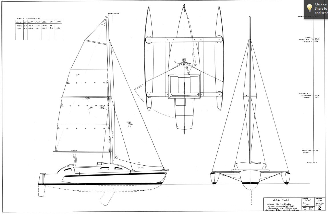 DC-3 Trimaran Model Wins WoodenBoat Design Challenge III | Small Trimarans