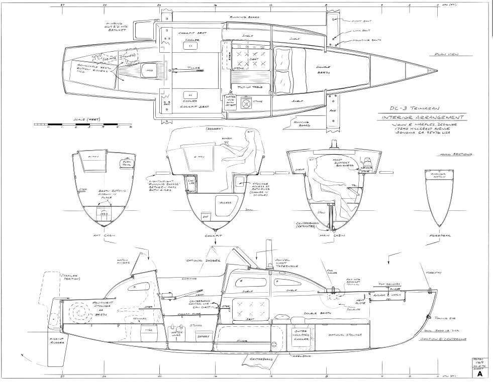 Re: Cruising Plywood Trimaran Design max 24/26ft