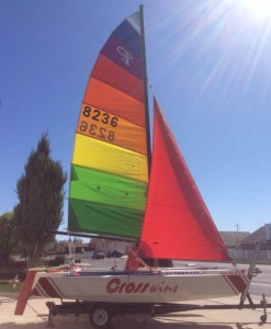 Classic Cross 18 trimaran  looking fresh!