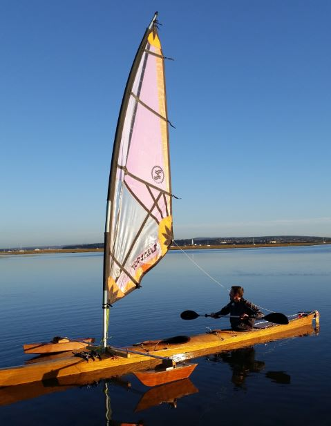 CLC Double Outrigger Kayak with Mark III SailRig | Small